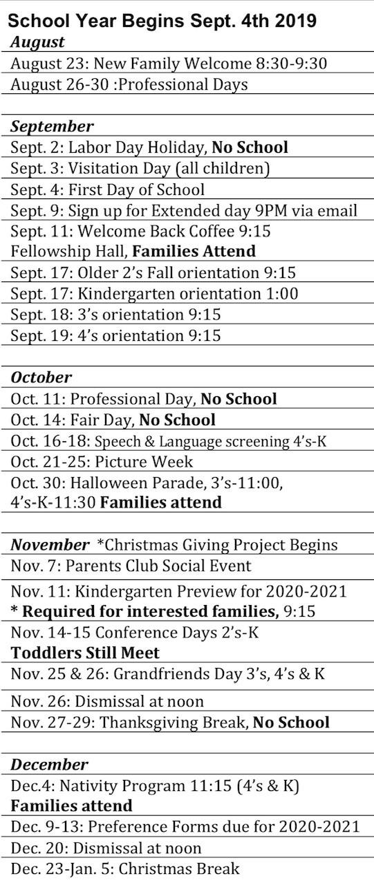 WPPK Calendar   Westminster Presbyterian Church